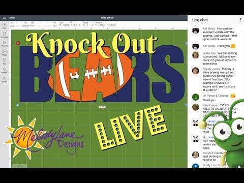 Knock Out Cricut Design Space LIVE