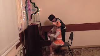 Открытое занятие. Обучение детей игре на фортепиано. 27.12.2017 # 4