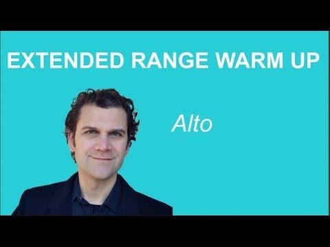 Alto Singing Warm Up - Extended Range - Pentatonic Scales