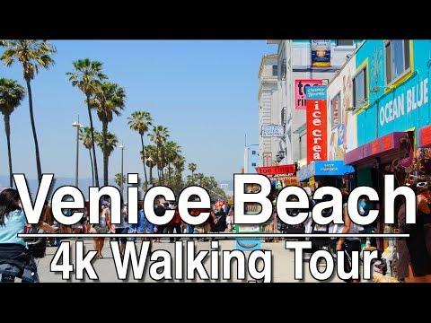 1Hr Walking Tour Venice Beach Boardwalk | 4K Dji Osmo | Ambient Music