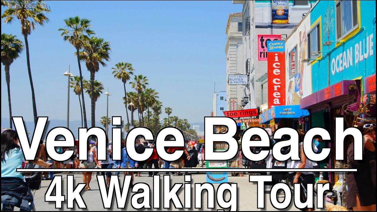 1hr Walking Tour Venice Beach Boardwalk 4k Dji Osmo Ambient Music