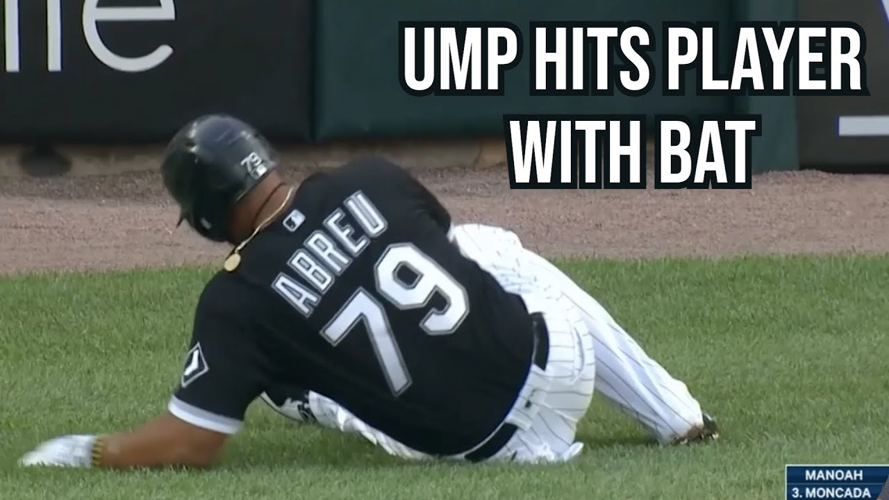Download Umpire throws bat at player, a breakdown