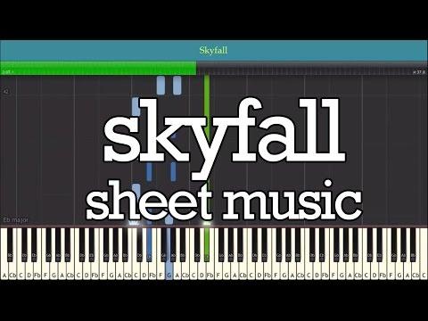 SKYFALL Piano Sheet Music - Easy Piano Tutorial (ADELE)