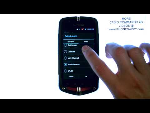 Casio Commando 4G - How Do I Change My Ringtone