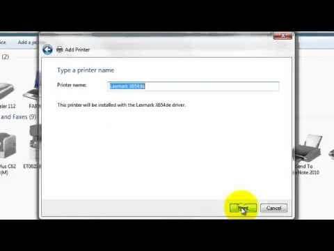 Windows 7 Install Of Lexmark Network Printer