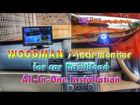 7 Inch Dashboard Monitor For Car Installation Mahindra Suzuki Tata Honda Hyundai Ford Toyota Renault