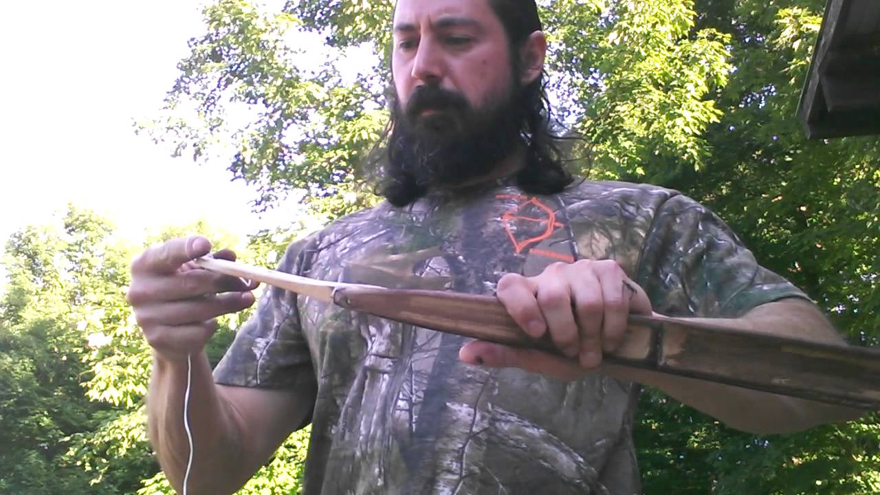 Dave assembles one of his bamboo bow kits in less than 10 minutes