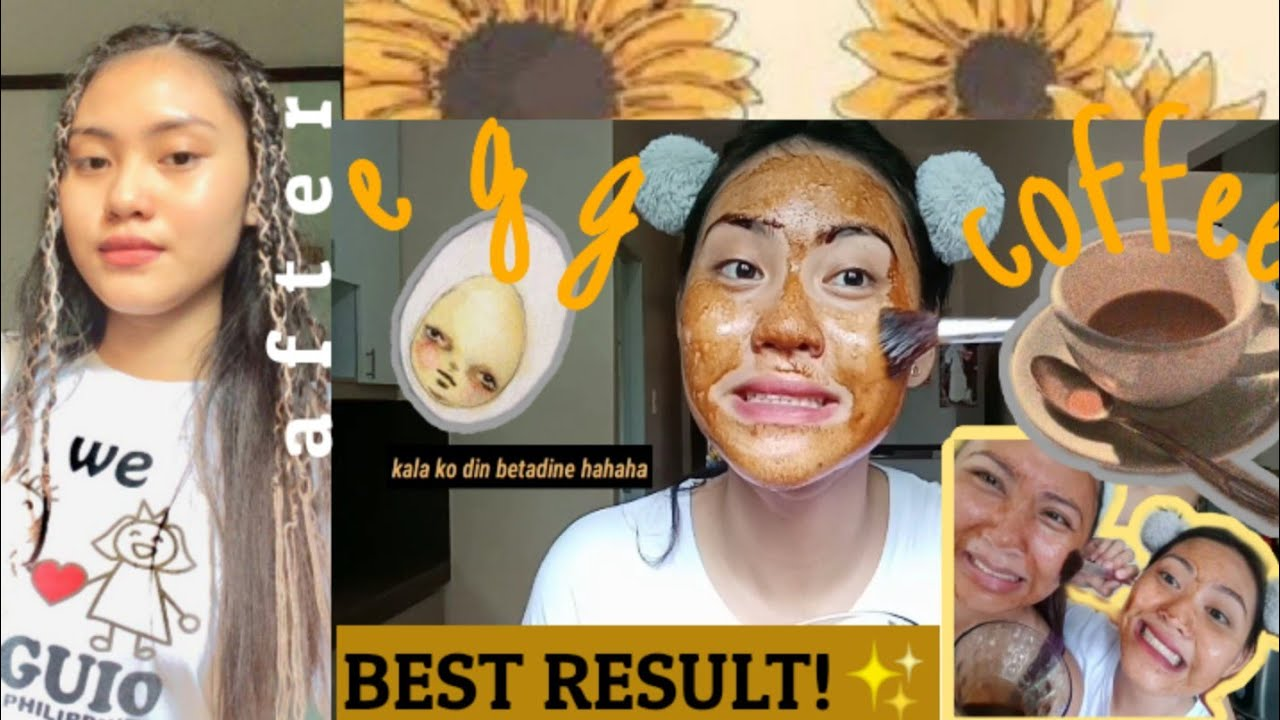 DIY EGG & COFFEE FACE MASK ( affordable !) NAKAKAGLOW NG SKIN ?✨