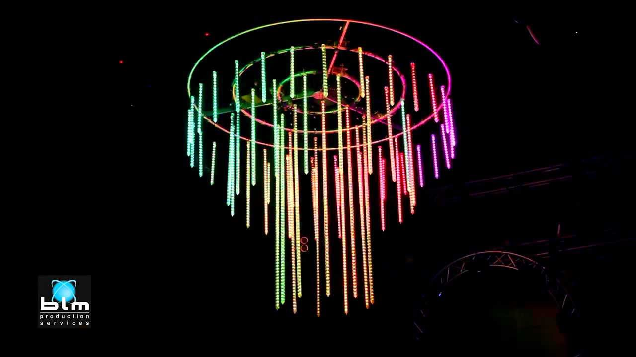 3d Led Crystal Chandelier Youtube