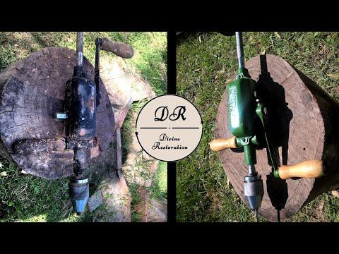 Restauración de TALADRO DE PECHO de 2 velocidades! - Two speed enclosed breast drill restoration!