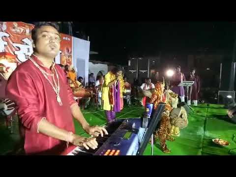 मुंगेली देवेश शर्मा जस गीत सम्राट के कार्यक्रम में जूपने लगी एक साथ कई देवियां ।।