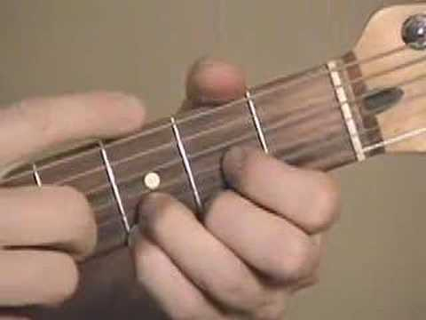 Guitar chord Dsus4 f# chord video - YouTube