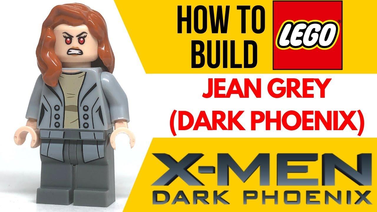 Lego DARK PHOENIX Custom Printed Minifig Marvel X-Men Mutant Jean Grey
