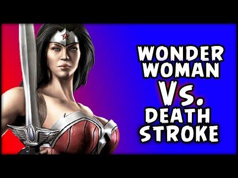 INJUSTICE - VERSUS - WonderWoman vs. Deathstroke!