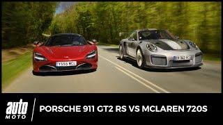 Porsche 911 GT2 RS vs McLaren 720S - ESSAI : armes de propulsion massive