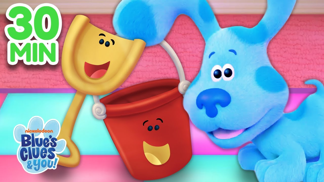 Download Blue Plays Games With Shovel & Pail! 30 Minute Compilation | Blue's Clues & You
