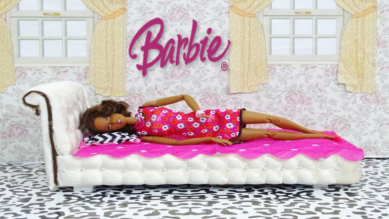 Diy Barbie Doll Bed How To Make A Barbie Doll Bed Youtube