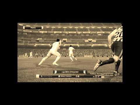 PES 2012-David Villa lob goal fantastic