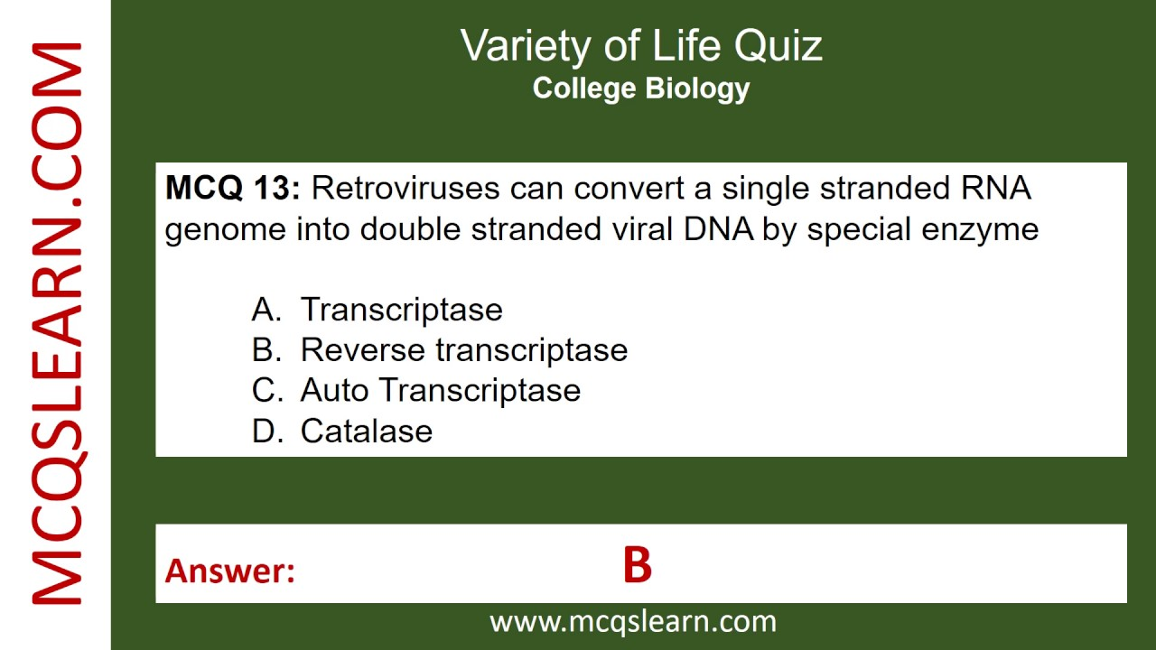 Variety of life Quiz - MCQsLearn Free Videos