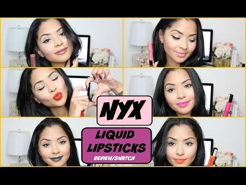 NYX Liquid Suede Lipsticks Review | Swatches Diana Saldana