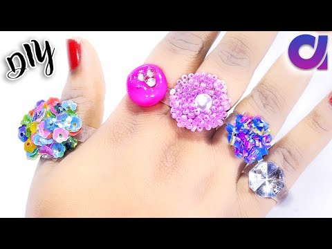 5 new amazing rings you can make at home | hot glue gun rings | Jewelry | Artkala 248