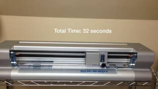 Cutting Machine Speed Test: KNK Zing Air (0:32)