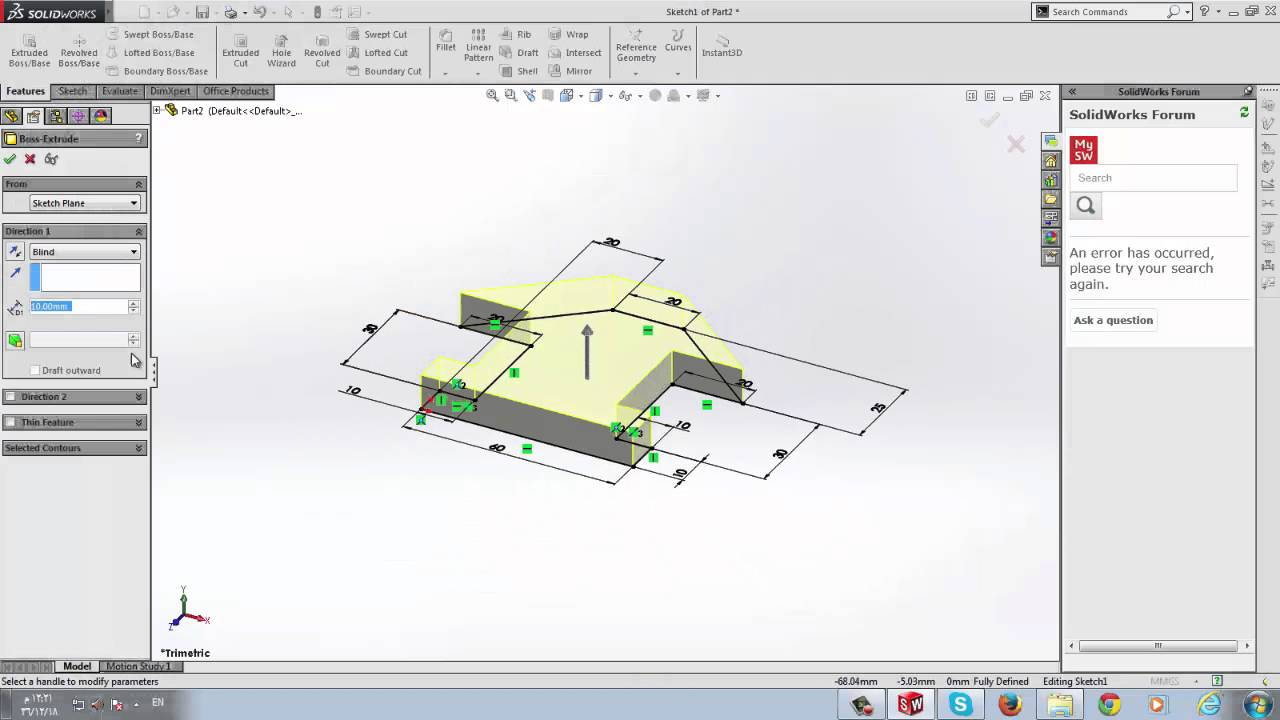 Define motion study - Engineering Drawing 2 Lab 12 B Part Design For Linear Motion Study 2