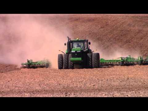 John Deere 9620R and 55ft John Deere 2210 Field Cultivator