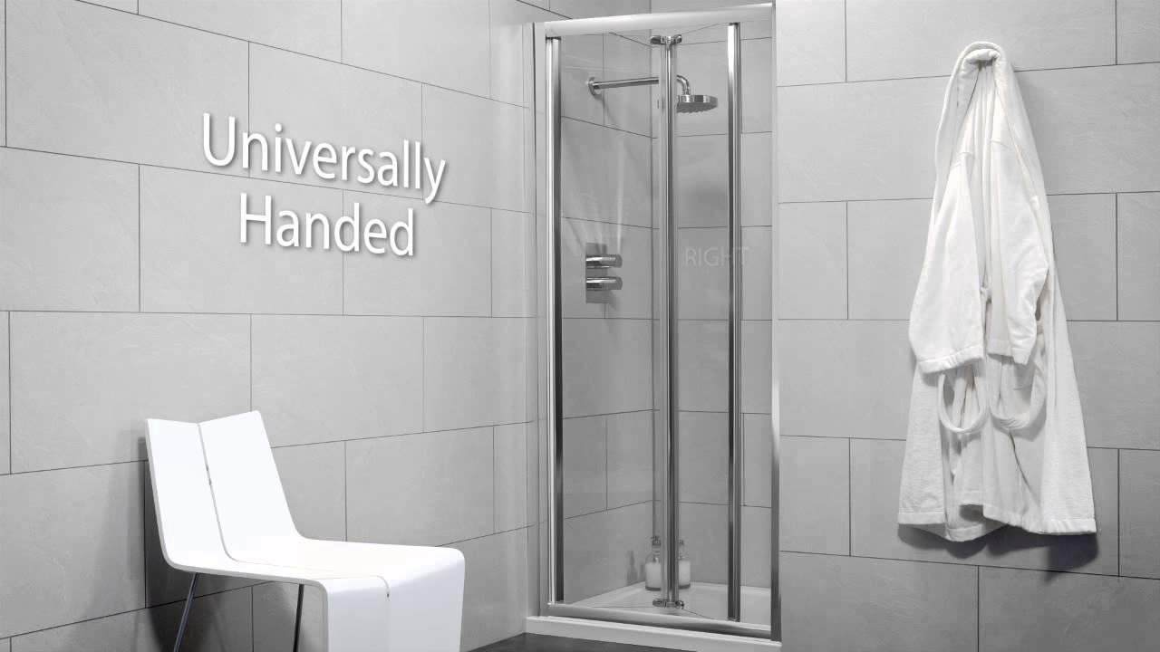 Sonas Bathrooms City Range Bifold Shower Door Youtube