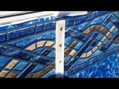 Diy Vinyl Pool Liner Stair Installation Youtube