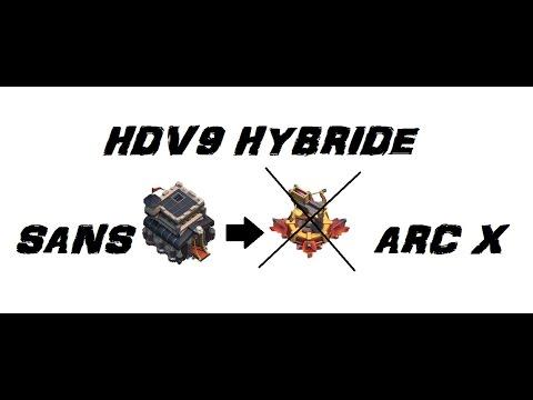 BASE HDV9 HYBRIDE SANS ARC X ET AVEC TOUR A BOMBES
