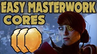 DESTINY 2 : FAST EASY FREE MASTERWORK CORES GUIDE 100% WORKS EVERYTIME