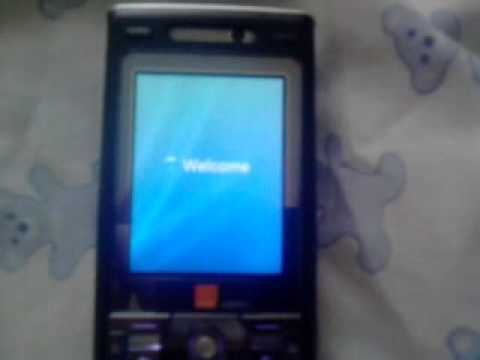 Sony Ericsson K800i with Windows Vista startup, shutdown and splash