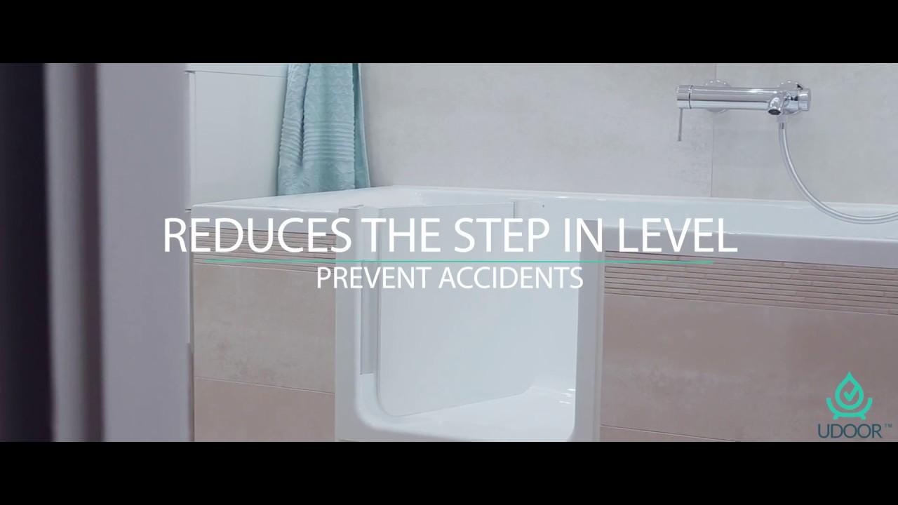 UDOOR Bathtub Door - YouTube