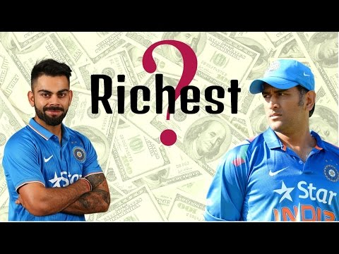 WHO'S RICHEST ? - Virat Kohli or M.S....