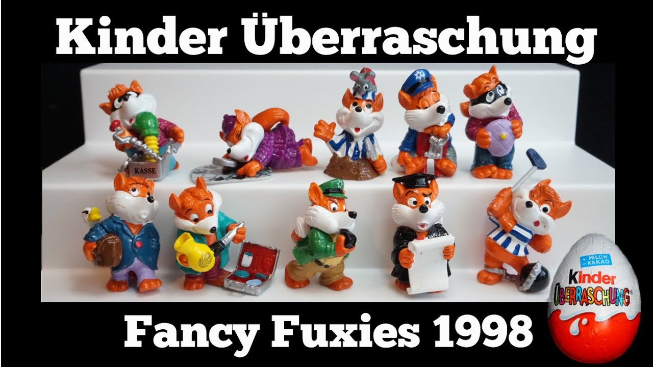 Kinder Kasse Fancy Fuxies 1998 Kinder Überraschung Kinder Surprise Egg Series