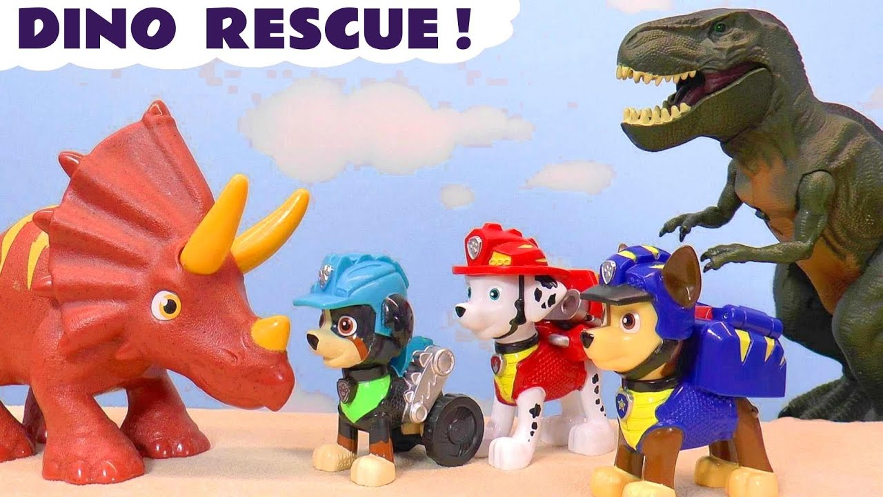 Paw Patrol REX Dino Rescue Stop Motion Moto Pups Toy Episode with the Funlings
