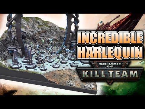 Harlequin 40k Kill Team Diorama Showcase