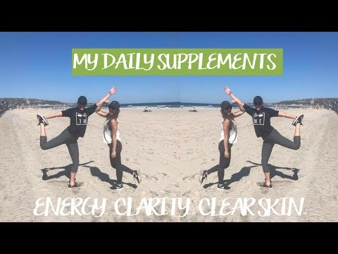 My Daily Supplements for Energy, Focus  + Clear Skin