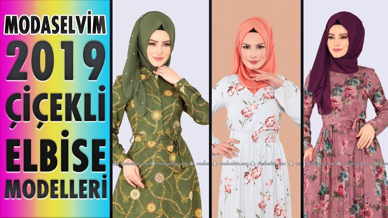 3157903b36e5b #Modaselvim Çiçekli Elbise Modelleri 2019 | Floral Dress Models | #elbise # dress #tesettür