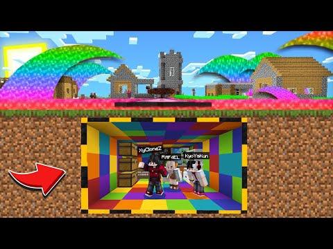 เอาชีวิตรอด!! ในบ้านใต้ดินสายรุ้ง เพื่อหนีจาก น้ำสึนามิสายรุ้ง!?? (Minecraft เอาชีวิตรอด)