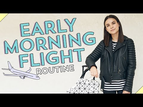 My Early Morning Flight Routine!  Ingrid Nilsen