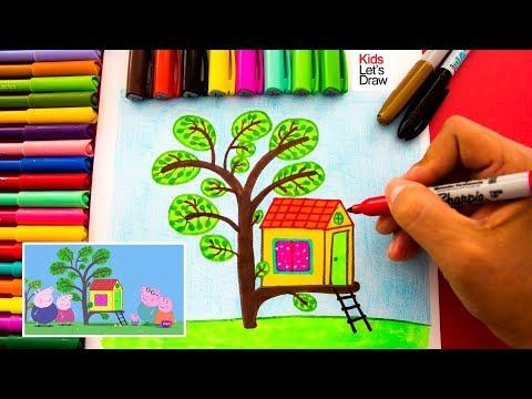 Como dibujar caratulas para cuadernos faciles pergamino by dibujo real - Peppa pig la casa del arbol ...