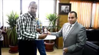 محافظ الإسماعيلية يكرم هانى عبد الرحمن مؤسس الموقع العالمى لقناة السويس الجديدة