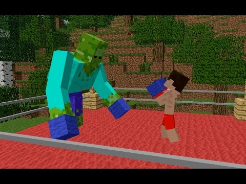 Monster School: Boxing - Minecraft Animation