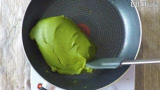 Matcha Mung Bean  Filling For Mooncakes  Cách Làm Nhân Đậu Xanh Trà Xanh Cho Bánh Trung Thu