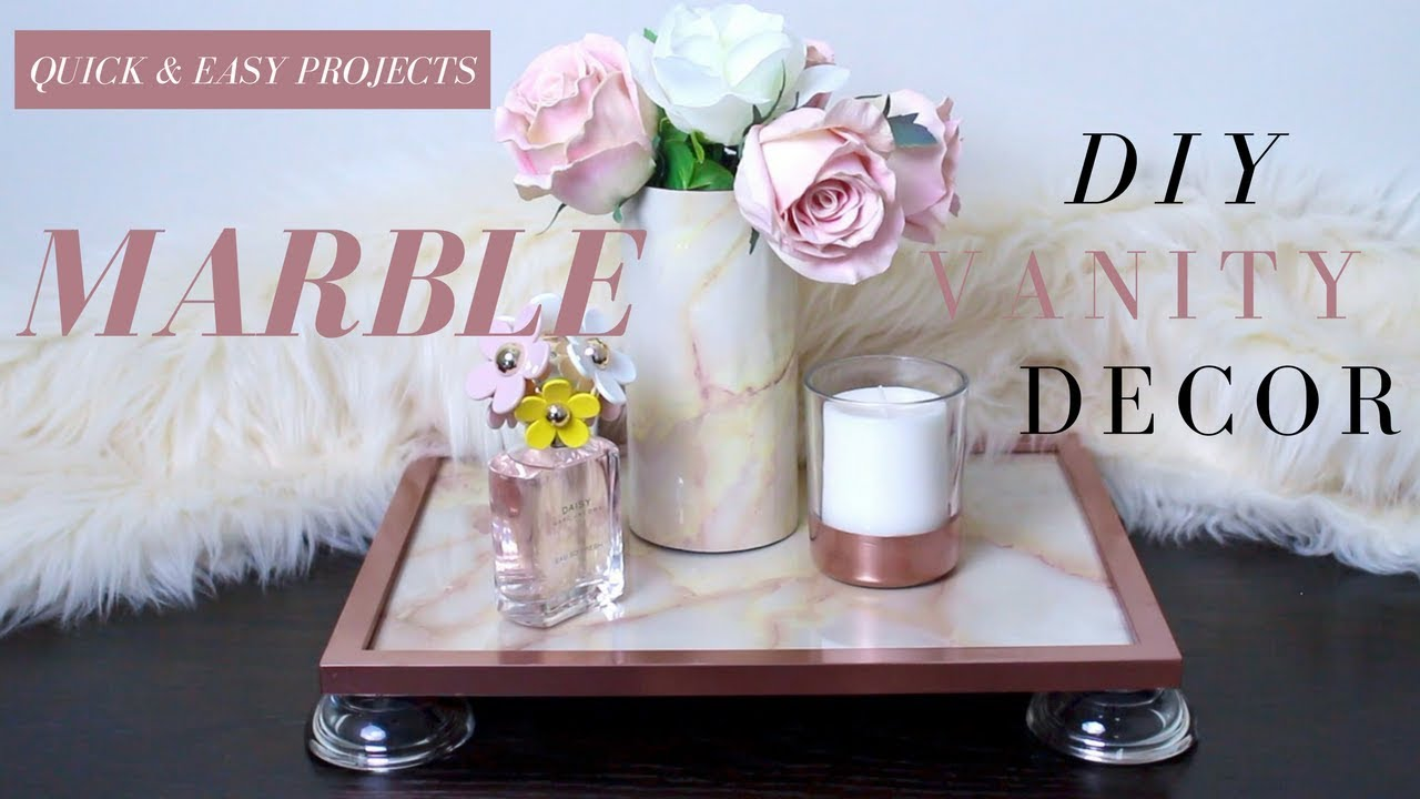 Diy marble vanity decor diy marble tray diy marble vase faux diy marble vanity decor diy marble tray diy marble vase faux marble decor reviewsmspy