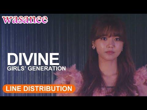 Girls' Generation/Snsd - Divine (OT8) - Line Distribution (Color Coded Live)