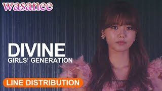 Gambar cover Girls' Generation/Snsd - Divine (OT8) - Line Distribution (Color Coded Live)