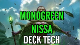 Mtg: Monogreen Finale of Nissa in War of the Spark Standard!